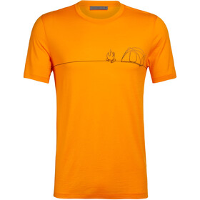 Icebreaker Tech Lite Single Line Camp T-shirt Col ras-du-cou Homme, sun